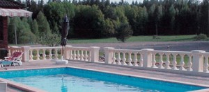 balustrad runt pool